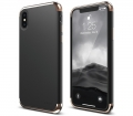 Чехол накладка Elago для iPhone X Empire Hard PC, Black/Rose gold (ES8EM-RGDBK)