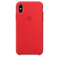 Чехол в стиле Apple Silicone Case для iPhone X под оригинал (Red)
