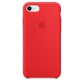 Чехол в стиле Apple Silicone Case для iPhone 8 / 7 под оригинал (Red)