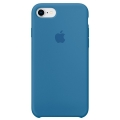 Чехол в стиле Apple Silicone Case для iPhone 8 / 7 под оригинал (Blue)
