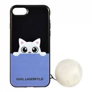 Купить гелевый чехол для iPhone 7 / 8 Karl Lagerfeld K-Peek A Boo Hard TPU Black, KLHCP7PABBL