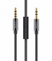 Кабель AUX 3.5mm с пультом и микрофоном Rock Multifunctional Audio Cable (RAU0513)