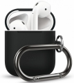 Чехол Elago для AirPods из силикона  с карабином Hang case Black (EAPSC-HANG-BK)