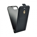 Кожаный чехол с флипом для iPhone 7 / 8 Ferrari 488 (Gold) Flip Leather, Black (FESEGFLP7BK)