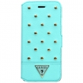 Кожаный чехол книжка Guess для iPhone 6 Plus TESSI Booktype Light green (GUFLBKP6LSTG)