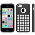 Чехол накладка Hollow Dot TPU Case для iPhone 5C (черный)