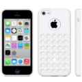 Чехол накладка Hollow Dot TPU Case для iPhone 5C (белый)