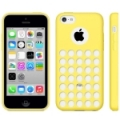 Чехол накладка Hollow Dot TPU Case для iPhone 5C (желтый)
