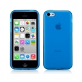 Чехол накладка Momax Clear Twist Case для iPhone 5C CCAPIP5CB (голубой)