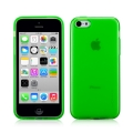 Чехол накладка Momax Clear Twist Case для iPhone 5C CCAPIP5CG (зеленый)