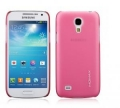 Чехол накладка Momax Ultra Thin Case для Samsung Galaxy S4 mini Clear Touch розовый CUSAS4MINITP1