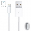 USB кабель 8 pin lightning белый 1 метр для Apple iPhone 7 / 7 Plus, 6 / 6 Plus, 5S, iPad Air / mini / Pro, iPod touch 6