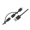 USB дата кабель Belkin 2 в 1 Apple 8 pin/Micro USB (черный)