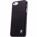 Чехол-накладка BMW для iPhone SE / 5S / 5 Real Carbon Hard, Black (BMHCPSEMBC)