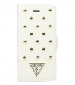 Чехол книжка Guess для iPhone 5 / 5S TESSI Booktype White GUFLBKP5STW