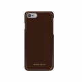 Кожаный чехол накладка для iPhone 7 / 8 Moodz Floater leather Hard Chocolate (dark brown), MZ901023
