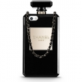 Чехол с цепочкой для iPhone 5 / 5S / SE Perfume bottle Chanel black