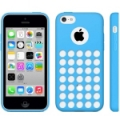 Чехол накладка Hollow Dot TPU Case для iPhone 5C (голубой)