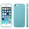 Чехол в стиле Apple case Official Design для iPhone 5 / 5S / SE голубой