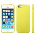 Чехол в стиле Apple case Official Design для iPhone 5 / 5S / SE желтый