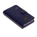 Чехол книжка для Samsung Galaxy S V / S5 / i9600 Zenus Luna Money Clip - Navy